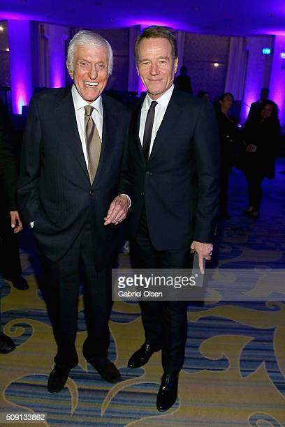 Actors Dick Van Dyke and Bryan Cranston winner of the Best Actor award for 'Trumbo' attend AARP's Movie For GrownUps Awards at the Beverly Wilshire...