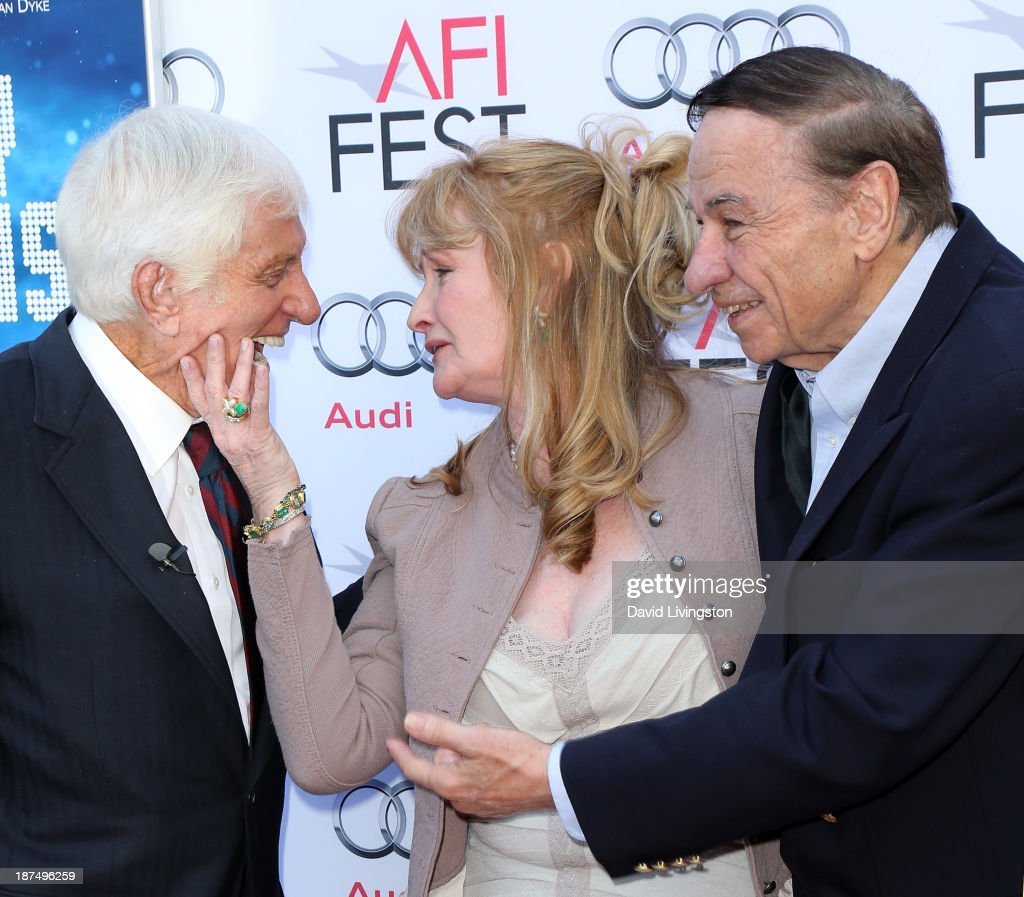 Actors <a gi-track='captionPersonalityLinkClicked' href=/galleries/search?phrase=Dick+Van+Dyke&family=editorial&specificpeople=123836 ng-click='$event.stopPropagation()'>Dick Van Dyke</a> and <a gi-track='captionPersonalityLinkClicked' href=/galleries/search?phrase=Karen+Dotrice&family=editorial&specificpeople=632487 ng-click='$event.stopPropagation()'>Karen Dotrice</a> and songwriter <a gi-track='captionPersonalityLinkClicked' href=/galleries/search?phrase=Richard+M.+Sherman+-+Songwriter&family=editorial&specificpeople=2353226 ng-click='$event.stopPropagation()'>Richard M. Sherman</a> attend the AFI FEST 2013 presented by Audi 50th Anniversary Commemoration Screening of Disney's 'Mary Poppins' at the TCL Chinese Theatre on November 9, 2013 in Hollywood, California.