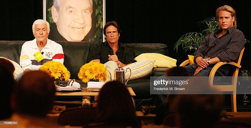 Actors Dick Van Dyke, Barry Van Dyke and Shane Van Dyke speak for the Hallmark Channel portion of the Television Critics Association Press Tour at the Beverly Hilton Hotel on July 12, 2007 in Beverly Hills, California.