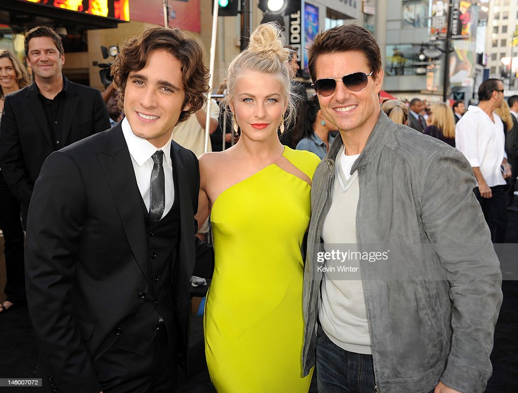 Actors Diego Boneta Julianne Hough and Tom Cruise arrive at the premiere of Warner Bros Pictures' 'Rock of Ages' at Grauman's Chinese Theatre on June...