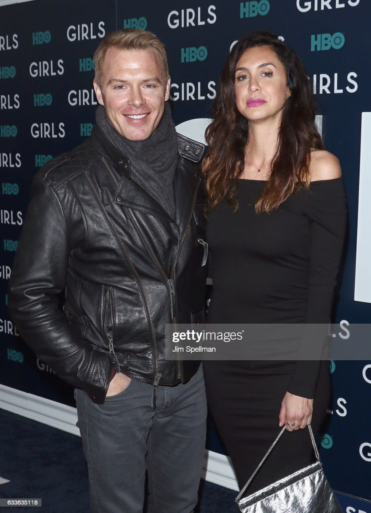 Actors Diego Klattenhoff and Mozhan Marno attend the the New York premiere of the sixth and final season of 'Girls' at Alice Tully Hall, Lincoln Center on February 2, 2017 in New York City.