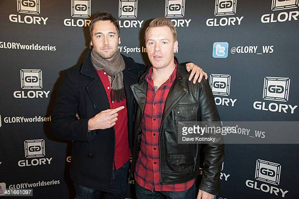Actors Diego Klattenhoff and Ryan Eggold attends the GLORY12 at The Theater at Madison Square Garden on November 23 2013 in New York City