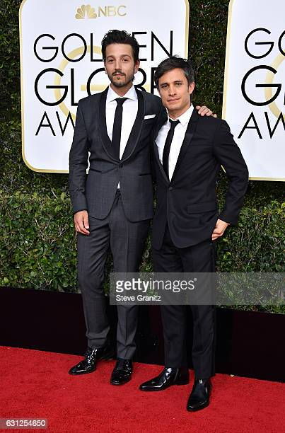 Actors Diego Luna and Gael Garcia Bernal attend the 74th Annual Golden Globe Awards at The Beverly Hilton Hotel on January 8 2017 in Beverly Hills...