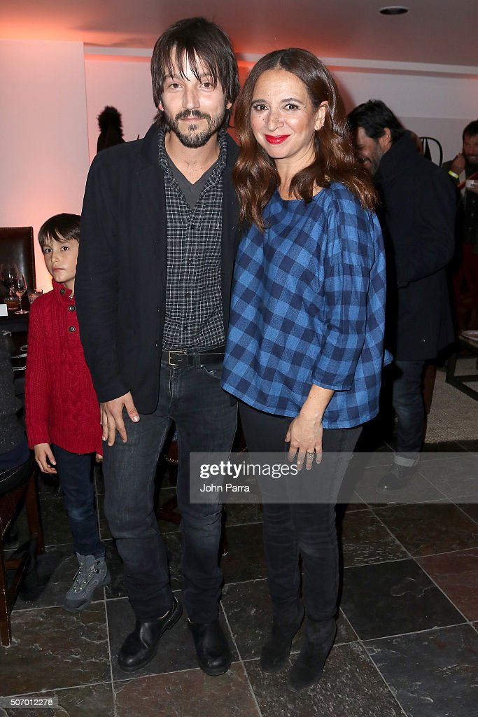 Actors Diego Luna and Maya Rudolph attend the 'Mr Pig' Premiere Party At The Acura Studio At Sundance Film Festival 2016 2016 Park City on January 26...