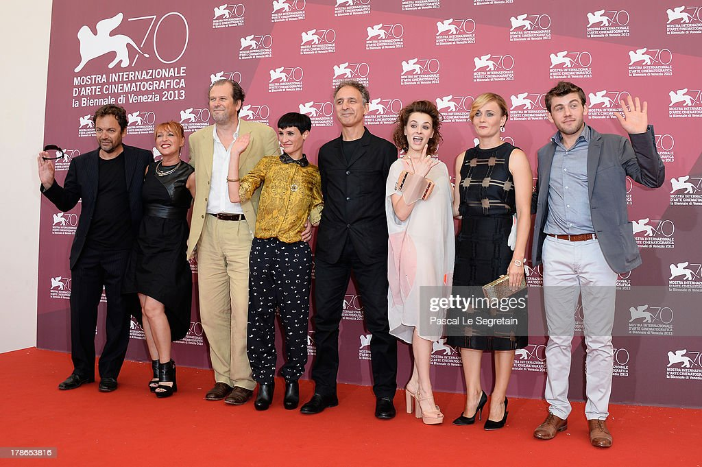 Actors Diego Ribon, Nicoletta Maragno, Mirko Artuso, Roberta Da Soller, director Alessandro Rossetto and actors Maria Roveran, Lucia Mascino and Vladimir Dod attend the 'Piccola Patria' Photocall during The 70th Venice International Film Festival at Palazzo Del Casino on August 30, 2013 in Venice, Italy.