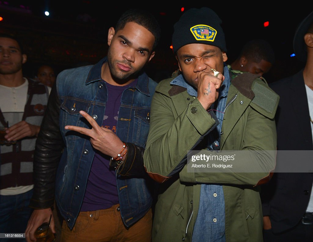 Actors Dijon Talton and Tristan Wilds attend the BET Music Matters Grammy Showcase on February 8, 2013 in Los Angeles, California.