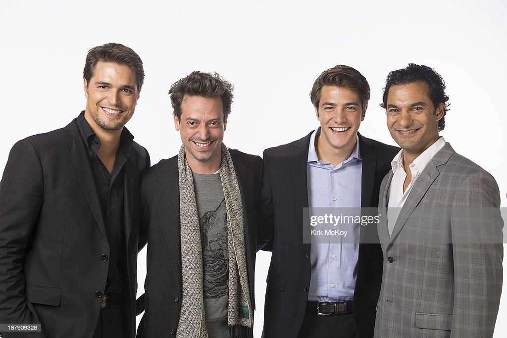 Actors Diogo Morgado, Darwin Shaw, Sebastian Knapp, Alberto Frezza are photographed for Los Angeles Times on September 20, 2013 in Los Angeles, California. PUBLISHED IMAGE.
