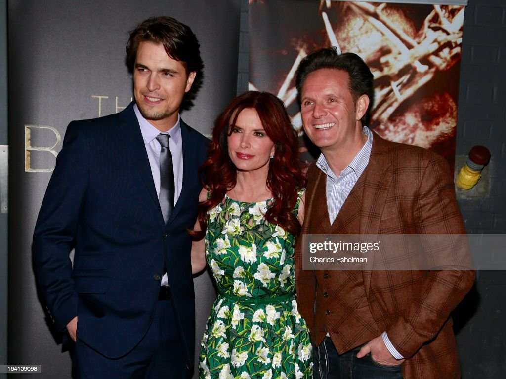 Actors Diogo Morgado, <a gi-track='captionPersonalityLinkClicked' href=/galleries/search?phrase=Roma+Downey&family=editorial&specificpeople=214162 ng-click='$event.stopPropagation()'>Roma Downey</a> and executive producer <a gi-track='captionPersonalityLinkClicked' href=/galleries/search?phrase=Mark+Burnett&family=editorial&specificpeople=204697 ng-click='$event.stopPropagation()'>Mark Burnett</a> attend 'The Bible Experience' Opening Night Gala at The Bible Experience on March 19, 2013 in New York City.