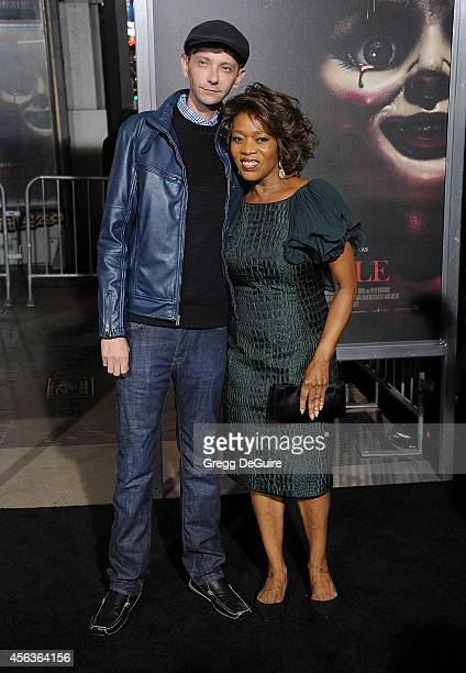 Actors DJ Qualls and Alfre Woodard arrive at the Los Angeles Special Screening Of New Line Cinema's 'Annabelle' at TCL Chinese Theatre on September...