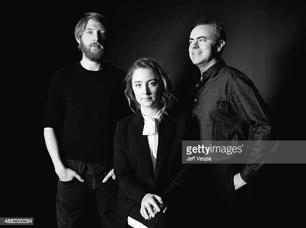 Actors Domhnall Gleeson Saoirse Ronan and director John Crowley actress from 'Brooklyn' pose for a portrait during the 2015 Toronto International...