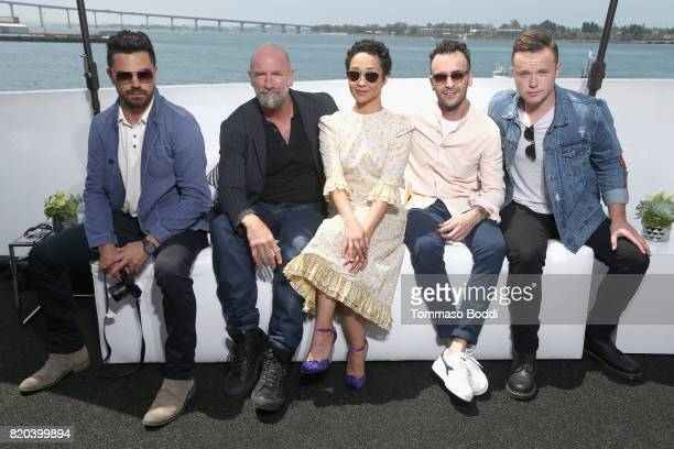 Actors Dominic Cooper Graham McTavish Ruth Negga Joseph Gilgun and Ian Colletti on the #IMDboat at San Diego ComicCon 2017 on the IMDb Yacht on July...