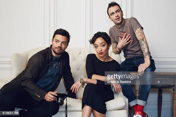 Actors Dominic Cooper Ruth Negga and Joseph Gilgun of 'Preacher' are photographed in the Getty Images SXSW Portrait Studio powered by Samsung at the...