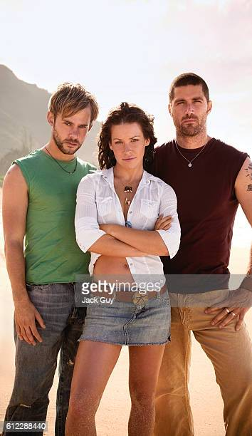 Actors Dominic Monaghan Evangeline Lilly and Matthew Fox are photographed for TV Guide Magazine on October 4 2004 COVER IMAGE