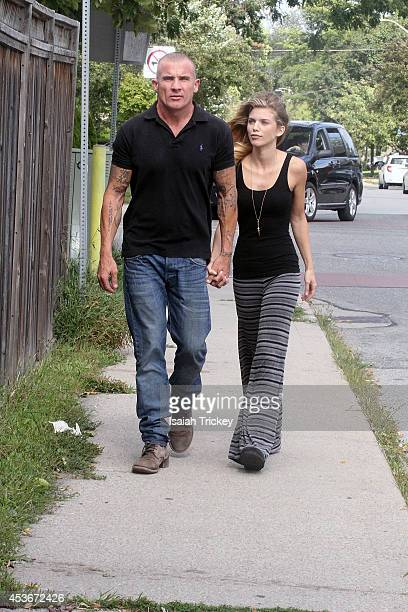 Actors Dominic Purcell and girlfriend AnnaLynne McCord seen on August 15 2014 in Toronto Canada