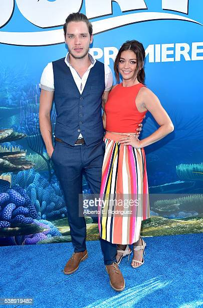 Actors Dominic Sherwood and Sarah Hyland attend The World Premiere of DisneyPixar's FINDING DORY on Wednesday June 8 2016 in Hollywood California