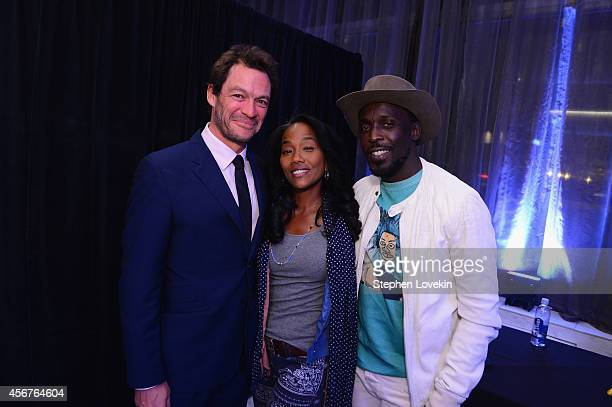 Actors Dominic West Sonja Sohn and Michael K Williams attend the premiere of SHOWTIME drama 'The Affair' held at North River Lobster Company on...