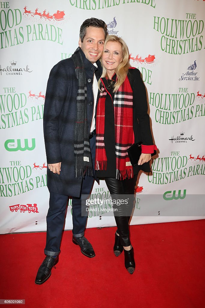 Actors Dominique Zoida and Katherine Kelly Lang arrive at the 85th Annual Hollywood Christmas Parade on November 27, 2016 in Hollywood, California.