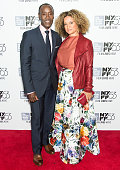 Actors Don Cheadle and Bridgid Coulter attend 53rd New York Film Festival closing night gala presentation of 'Miles Ahead' at Alice Tully Hall on...