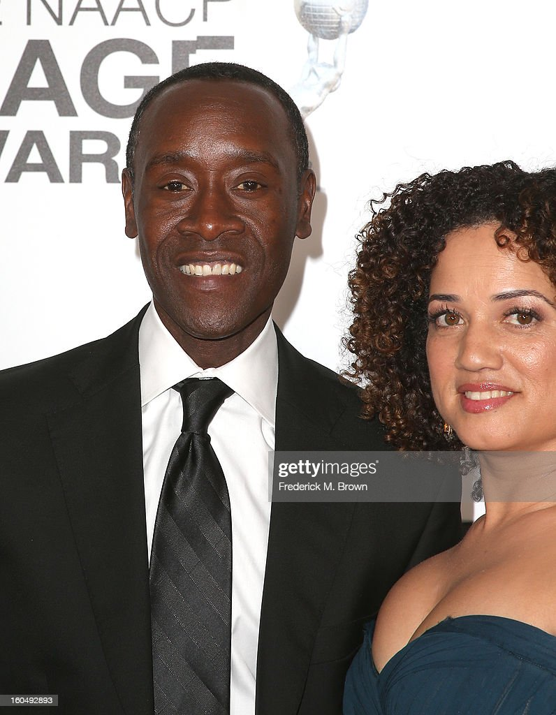Actors <a gi-track='captionPersonalityLinkClicked' href=/galleries/search?phrase=Don+Cheadle&family=editorial&specificpeople=202096 ng-click='$event.stopPropagation()'>Don Cheadle</a> (L) and <a gi-track='captionPersonalityLinkClicked' href=/galleries/search?phrase=Bridgid+Coulter&family=editorial&specificpeople=2158035 ng-click='$event.stopPropagation()'>Bridgid Coulter</a> attend the 44th NAACP Image Awards at The Shrine Auditorium on February 1, 2013 in Los Angeles, California.