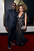 Actors Don Cheadle and Bridgid Coulter attend The 58th GRAMMY Awards at Staples Center on February 15 2016 in Los Angeles California