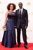 Actors Don Cheadle and Bridgid Coulter attend the 66th Annual Primetime Emmy Awards held at Nokia Theatre LA Live on August 25 2014 in Los Angeles...