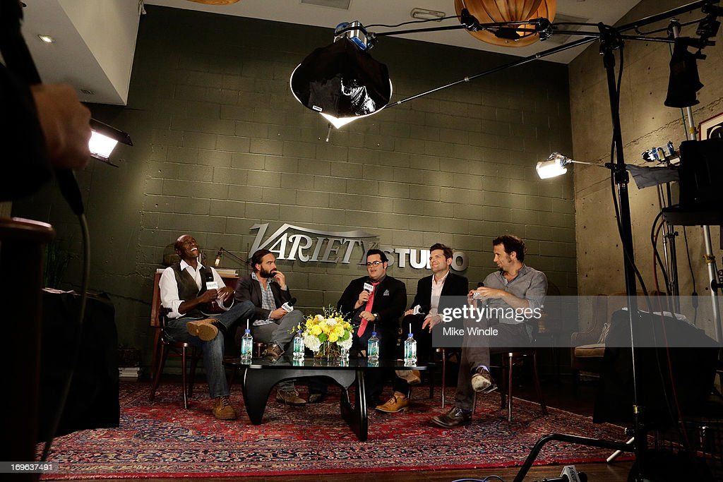Actors Don Cheadle, Johnny Galecki, Josh Gad, Adam Scott, and Jeremy Sisto attend the Variety Emmy Studio at Palihouse on May 29, 2013 in West Hollywood, California.