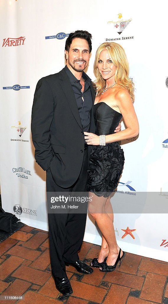 Actors Don Diamont and Cindy Ambuehl attend the 10th Annual 'Comedy For A Cure' at the Hollywood Roosevelt Hotel on April 3 2011 in Hollywood...
