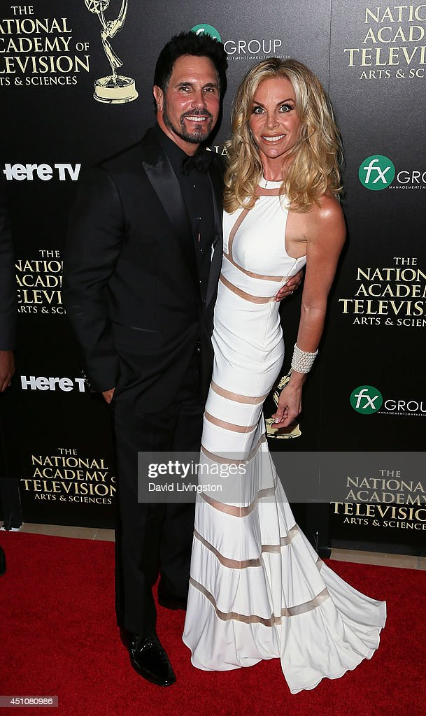 Actors Don Diamont and Cindy Ambuehl attend the 41st Annual Daytime Emmy Awards at The Beverly Hilton Hotel on June 22 2014 in Beverly Hills...