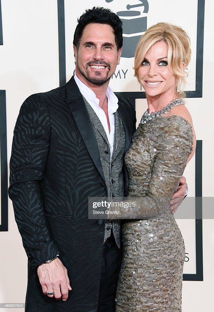 Actors Don Diamont and Cindy Ambuehl attend The 57th Annual GRAMMY Awards at the STAPLES Center on February 8 2015 in Los Angeles California