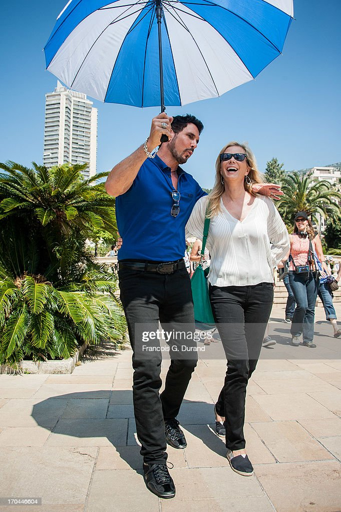 Actors Don Diamont and Katherine Kelly Lang are seen filming a scene of 'Bold And the Beautiful' on June 13, 2013 in Monaco, Monaco.