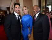 Actors Don Diamont Cindy Ambuehl and Brad Sanders arrive at The 39th Annual Daytime Emmy Awards broadcasted on HLN held at The Beverly Hilton Hotel...