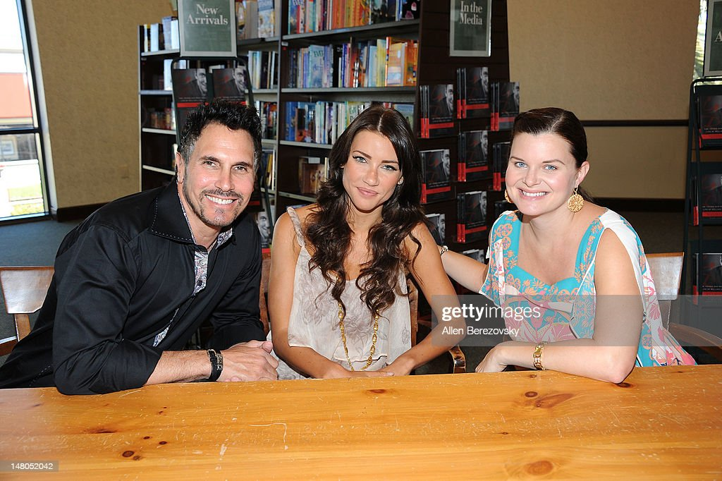Actors Don Diamont Jacqueline MacInnes Wood and Heather Tom attend the book signing of 'The Young And The Restless Life Of William J Bell' by Lee...