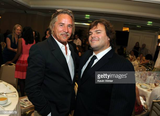 Actors Don Johnson and Jack Black attend the Hollywood Foreign Press Association's 2012 Installation Luncheon held at the Beverly Hills Hotel on...