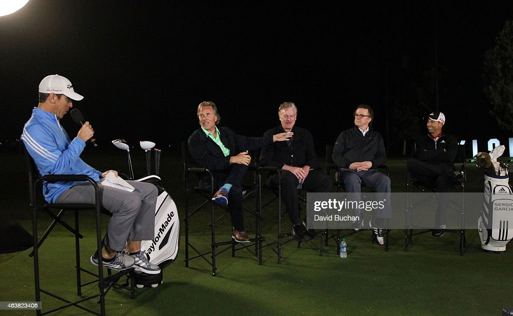 Actors Don Johnson Christopher McDonald Michael O'Keefe and Pro golfer Sergio Garcia attend the Northern Trust Open TaylorMade Golf presents first...