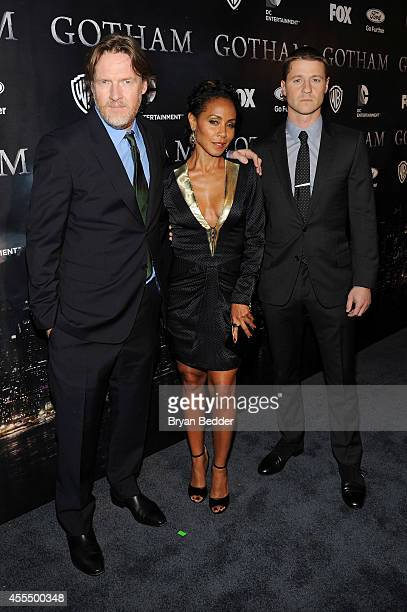 Actors Donal Logue Jada Pinkett Smith and Ben McKenzie attend the GOTHAM Series Premiere event on September 15 2014 in New York City