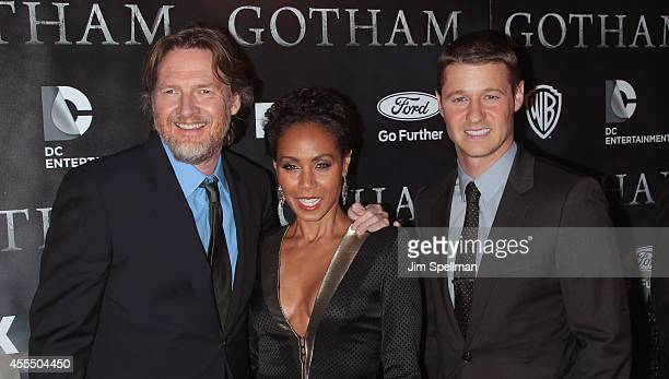 Actors Donal Logue Jada Pinkett Smith and Benjamin McKenzie attend the 'Gotham' Series Premiere at The New York Public Library on September 15 2014...