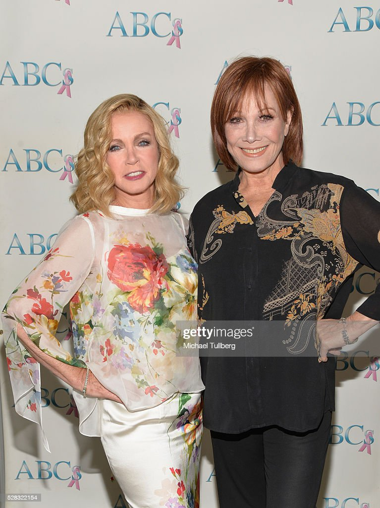 Actors <a gi-track='captionPersonalityLinkClicked' href=/galleries/search?phrase=Donna+Mills&family=editorial&specificpeople=217252 ng-click='$event.stopPropagation()'>Donna Mills</a> and Michele Lee attend the Associates For Breast and Prostate Cancer Studies' annual Mother's Day Luncheon at Four Seasons Hotel Los Angeles at Beverly Hills on May 4, 2016 in Los Angeles, California.