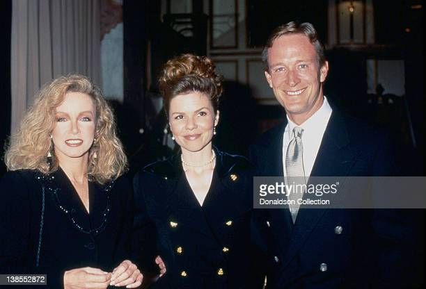 Actors Donna Mills Annette Wolfe and her husband Ted Shackelford attend an event in 1993 in Los Angeles California