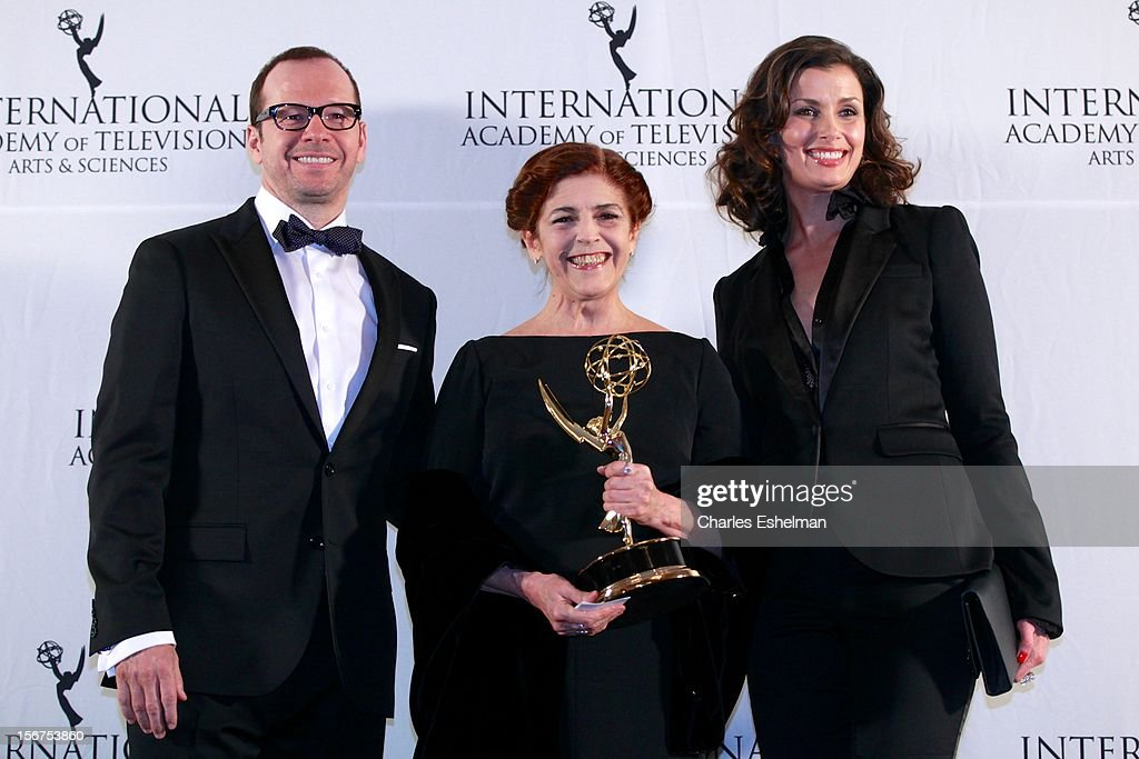 Actors Donnie Wahlberg, Cristina Banegas and Bridget Moynahan attend the 40th International Emmy Awards at Mercury Ballroom at the New York Hilton on November 19, 2012 in New York City.