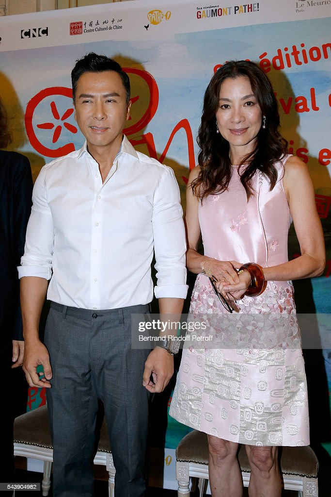 Actors <a gi-track='captionPersonalityLinkClicked' href=/galleries/search?phrase=Donnie+Yen&family=editorial&specificpeople=235559 ng-click='$event.stopPropagation()'>Donnie Yen</a> and <a gi-track='captionPersonalityLinkClicked' href=/galleries/search?phrase=Michelle+Yeoh&family=editorial&specificpeople=223894 ng-click='$event.stopPropagation()'>Michelle Yeoh</a> attend 6th Chinese Film Festival