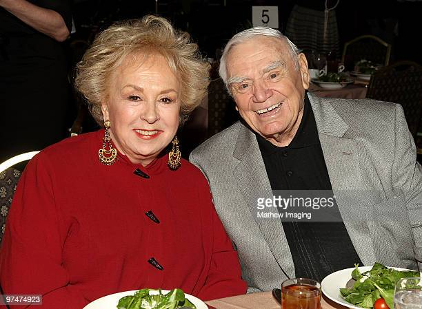 COVERAGE** Actors Doris Roberts and Ernest Borgnine recipient of the Special Award of Merit attends the 47th Annual ICG Publicist Awards at the Hyatt...