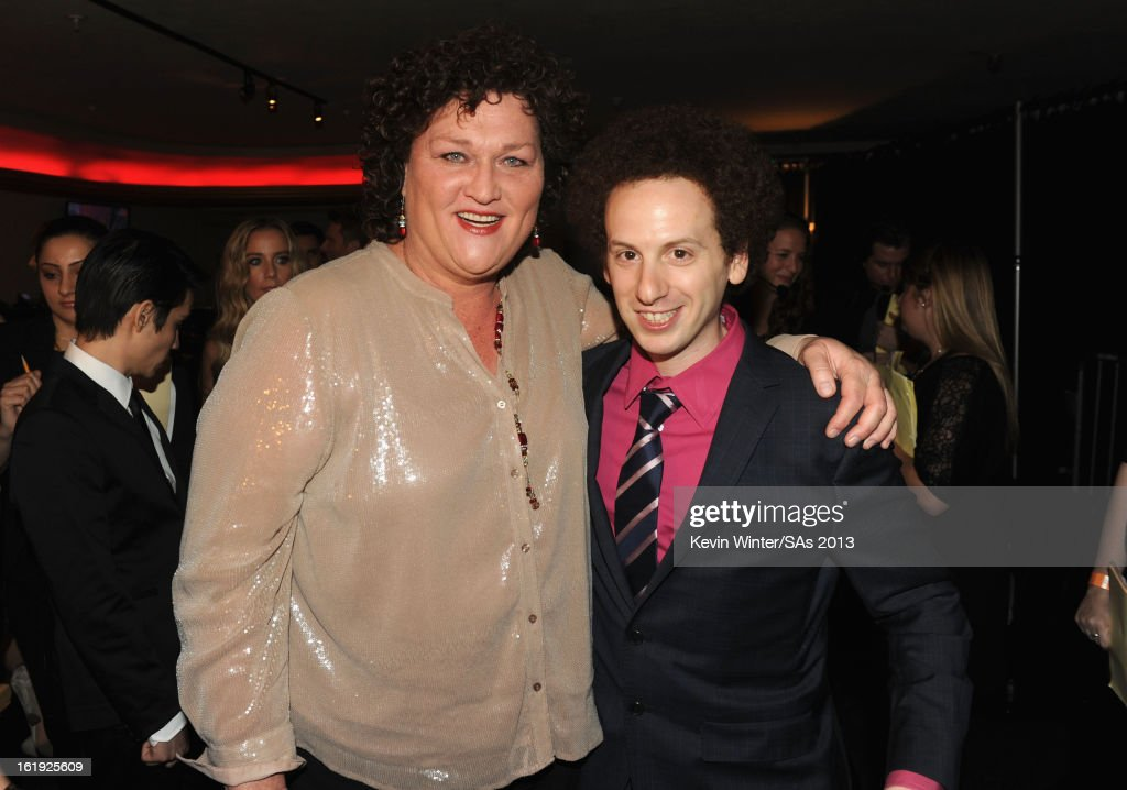 Actors Dot Jones and <a gi-track='captionPersonalityLinkClicked' href=/galleries/search?phrase=Josh+Sussman&family=editorial&specificpeople=5756661 ng-click='$event.stopPropagation()'>Josh Sussman</a> attend the 3rd Annual Streamy Awards at Hollywood Palladium on February 17, 2013 in Hollywood, California.