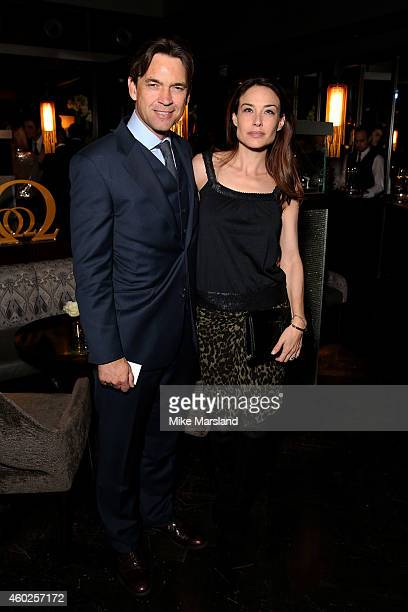 Actors Dougray Scott and Claire Forlani attend the Omega Oxford Street Store Opening Party at The Shard on December 10 2014 in London England