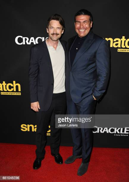 Actors Dougray Scott and Tamer Hassan attend the premiere of 'Snatch' at Arclight Cinemas Culver City on March 9 2017 in Culver City California