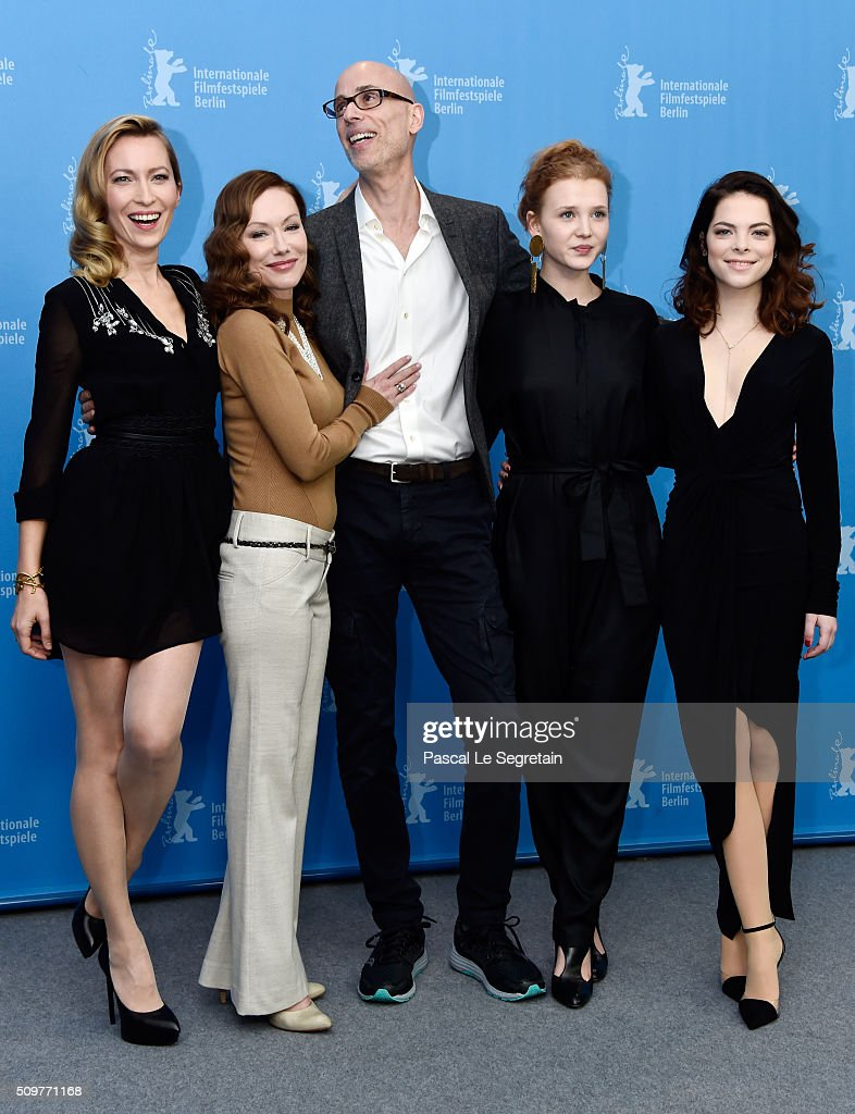 Actors Dounia Sichov, Simone-Elise Girard, James Hyndman, Isolda Dychauk and Laetitia Isambert-Denis attend the 'Boris without Beatrice' (Boris sans Beatrice) photo call during the 66th Berlinale International Film Festival Berlin at Grand Hyatt Hotel on February 12, 2016 in Berlin, Germany.