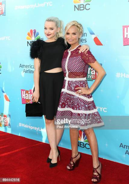 Actors Dove Cameron and Kristin Chenoweth attend the 'Hairspray Live' FYC event at The Saban Media Center on June 9 2017 in North Hollywood California