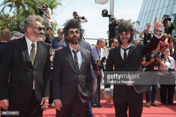 Actors dressed as zombies attend the 'Rodin' screening during the 70th annual Cannes Film Festival at Palais des Festivals on May 24 2017 in Cannes...