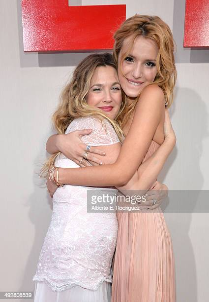 Actors Drew Barrymore and Bella Thorne attend the Los Angeles premiere of 'Blended' at TCL Chinese Theatre on May 21 2014 in Hollywood California