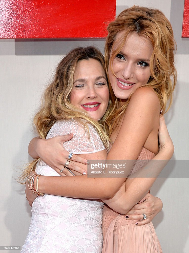 Actors Drew Barrymore and Bella Thorne attend the Los Angeles premiere of 'Blended' at TCL Chinese Theatre on May 21, 2014 in Hollywood, California.