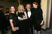 Actors Drew Barrymore and Kate Capshaw director Steven Spielberg and actress Bryce Dallas Howard pose backstage during American Film Institute's 44th...